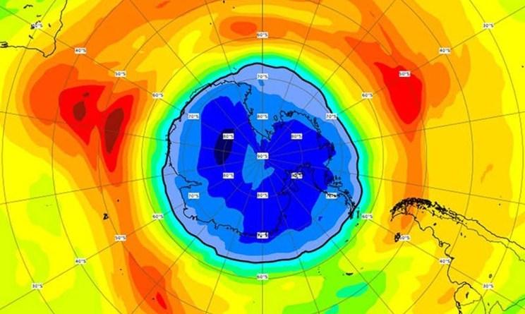 Agujero de ozono sobre la Antártida más grande de lo habitual