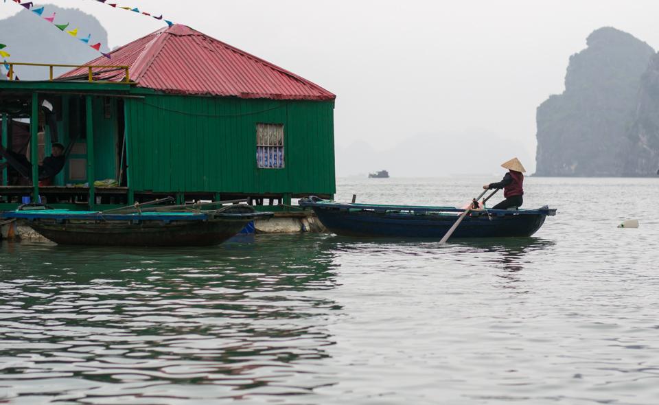 Floating market at Halong Bay