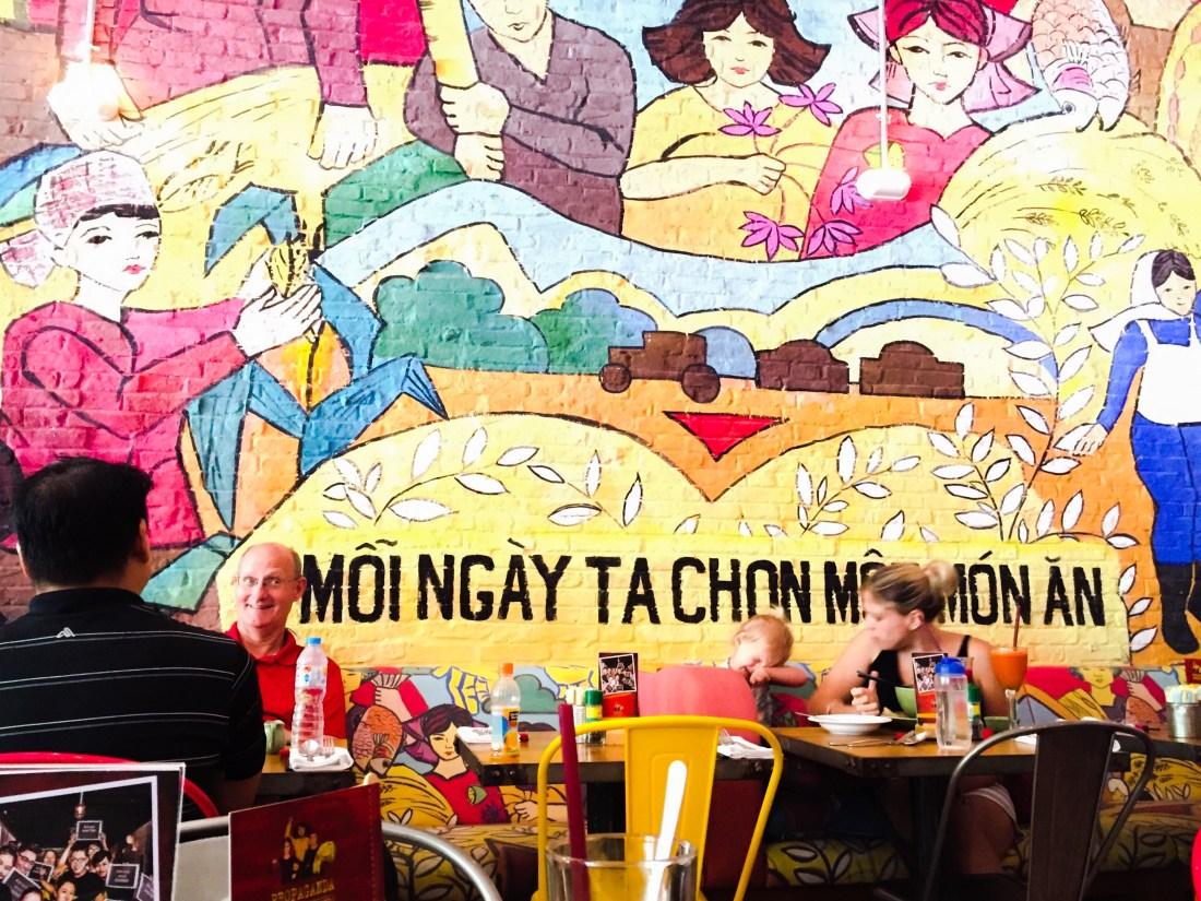 propaganda bistro mural