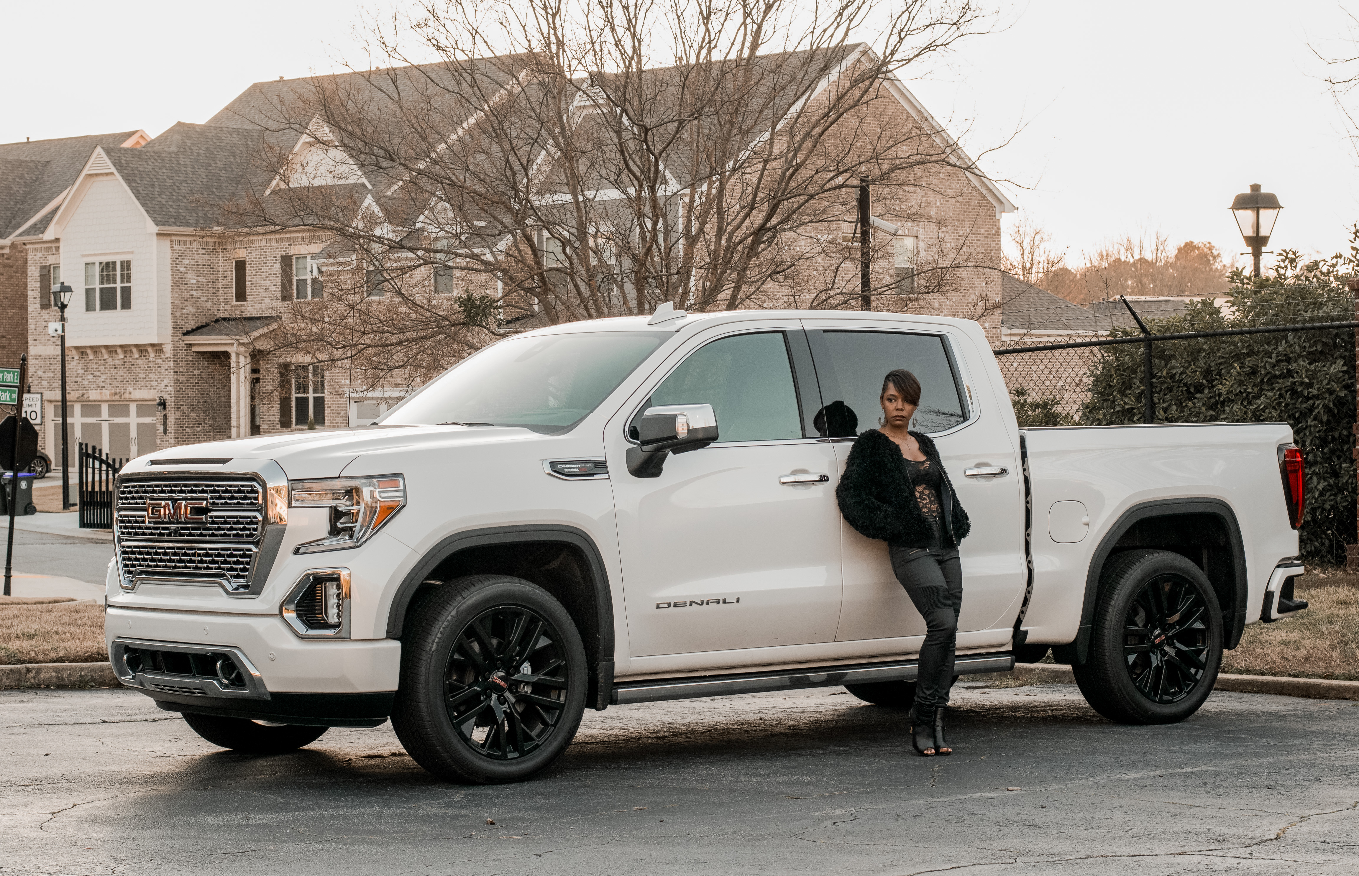 Small Woman Big Truck Home For The Holidays With Gmc Sierra Denali World Of A Wanderer