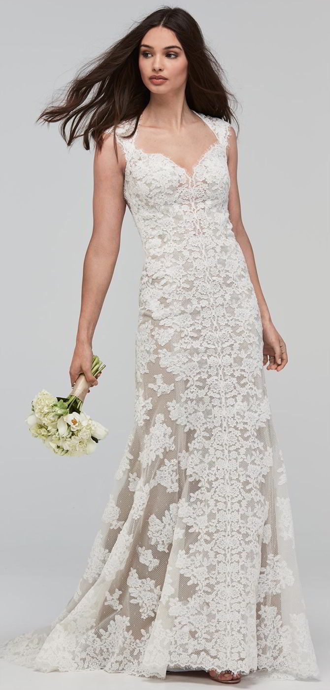 Sweetheart Soft Lace Tulle Fit And And Wedding Dress Line Embellished Flare Neckline
