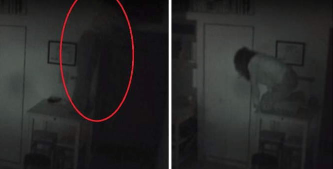 Man Caught An Unwanted Guest Living In His Home This Creepy Video