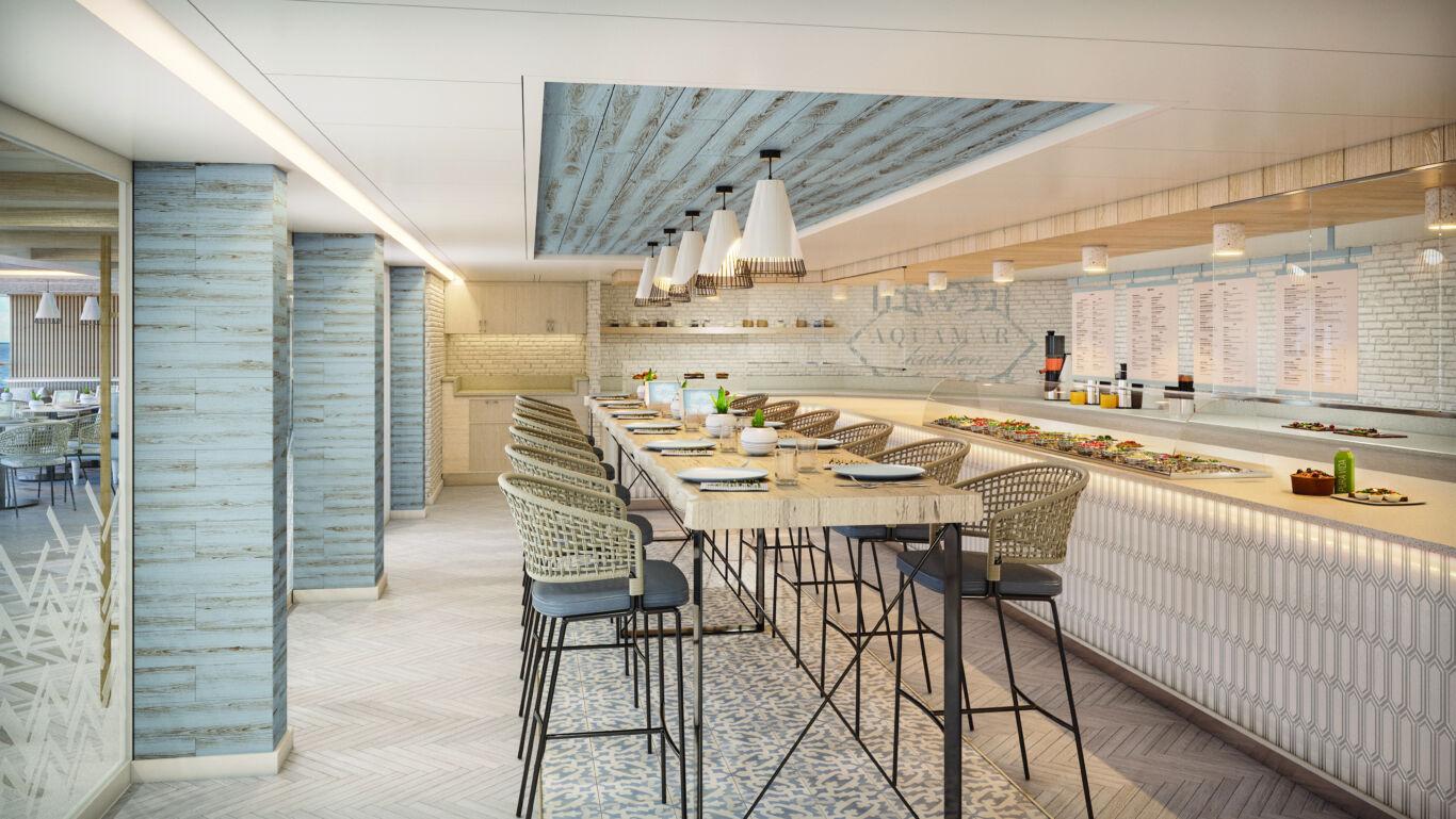 Aquamar Kitchen Dining Room