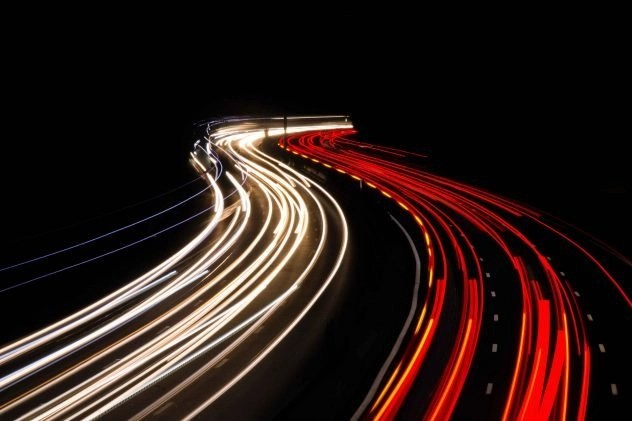Intersteno Typing Speed Contest - Time Lapse Red And White Highway Lights