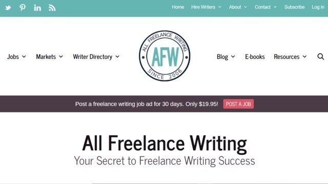 All Freelance Writing home page. This writing site is a popular place for to find freelance writing jobs for beginners.