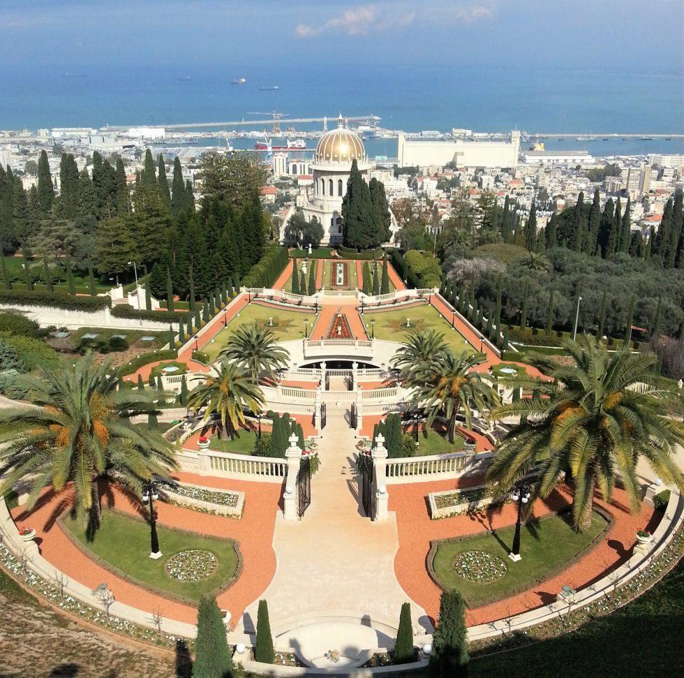 Baha'i Temple Gardens in Haifa, Israel
