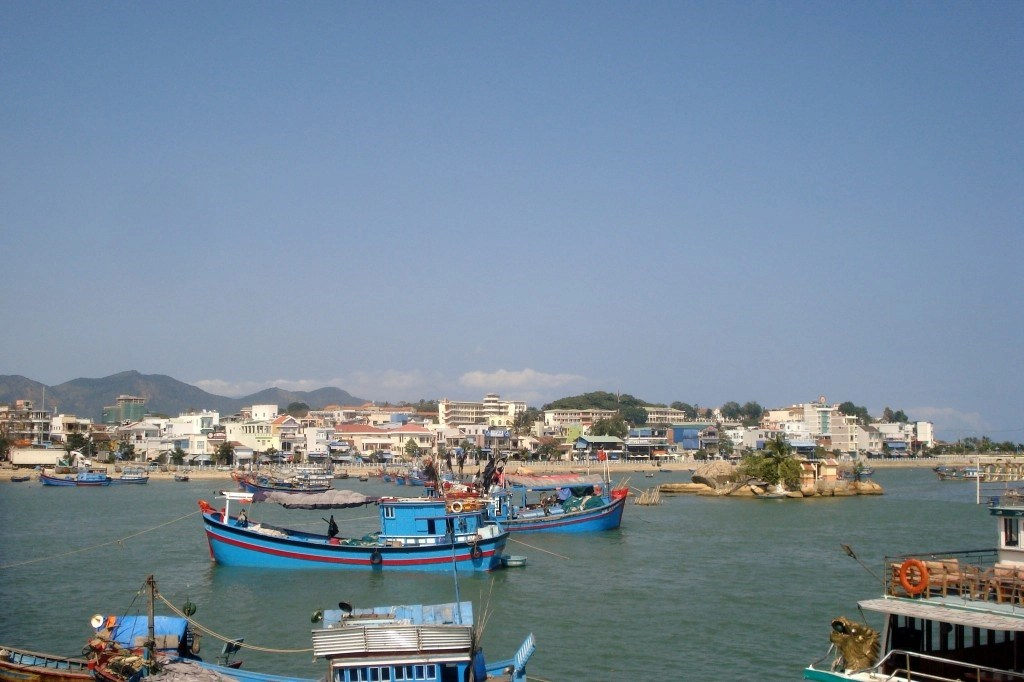 Boats In Harbour In Nha Trang, Vietnam