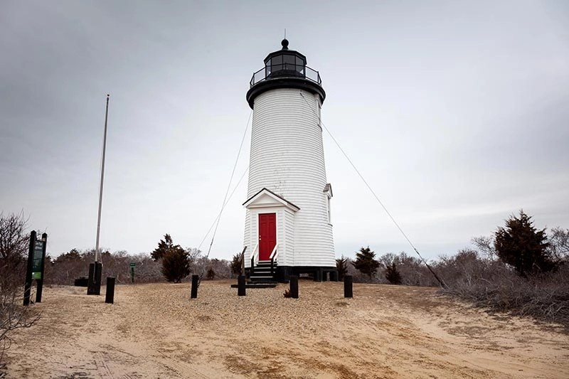 Cape Poge Lighthouse On Chappaquiddick Island, Massachusetts