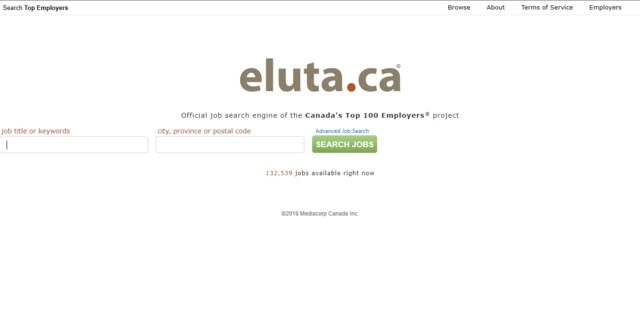 Eluta.ca is a Canadian job search engine