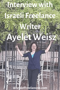 Israeli freelancer writer Ayelet Weisz