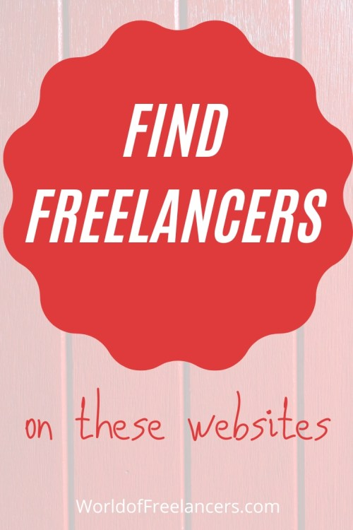 Find freelancers on these websites