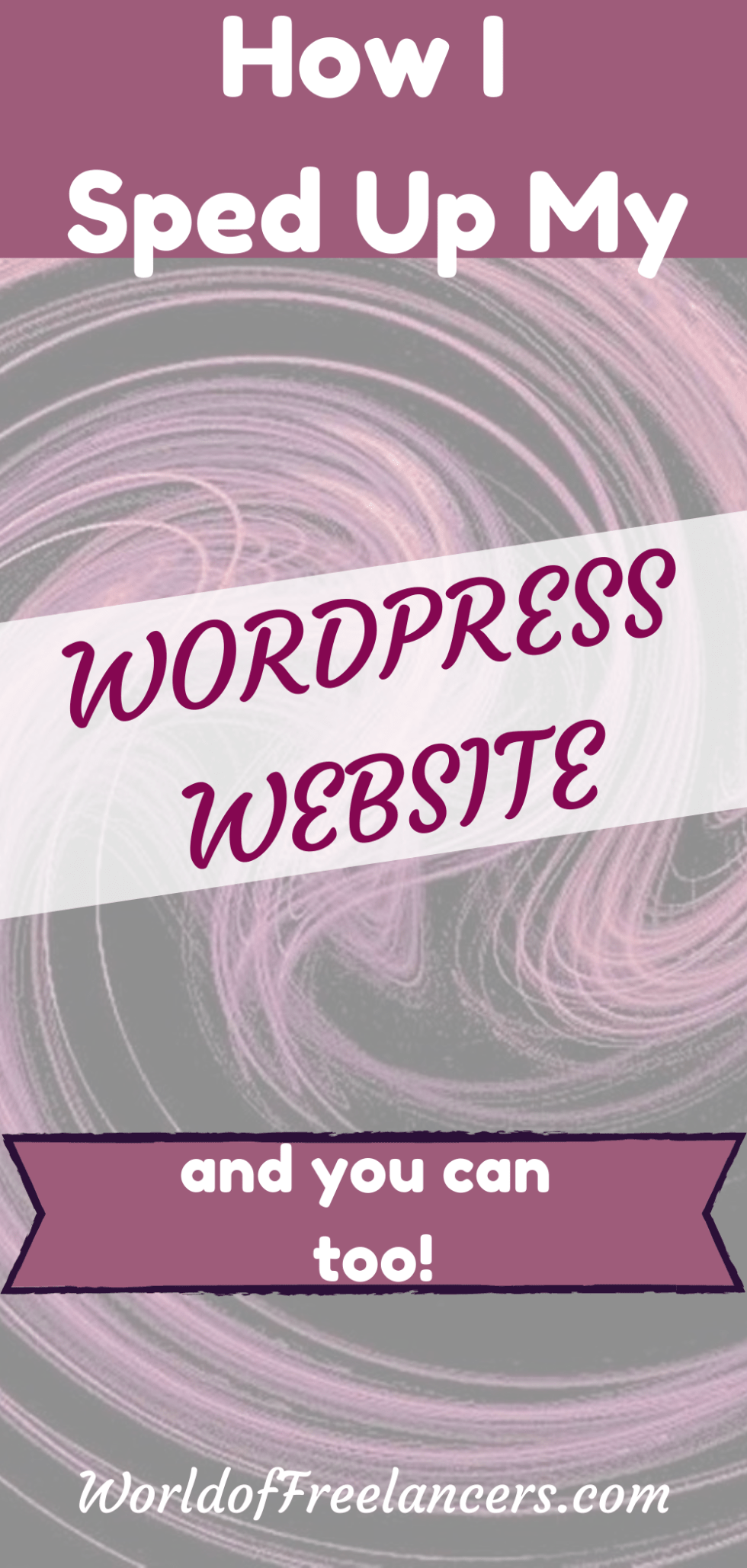How I sped up my WordPress website and you can too