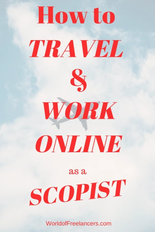 How to Travel and Work Online as a Scopist Pinterest image
