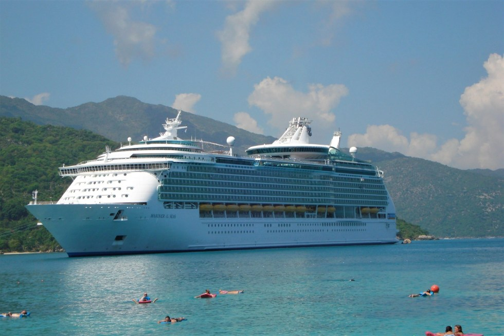 Royal Carribean Mariner of the Seas cruise ship docked in Haiti