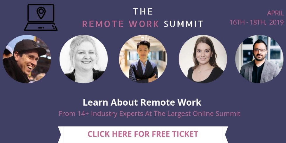The Remote Work Summit 2019 free ticket