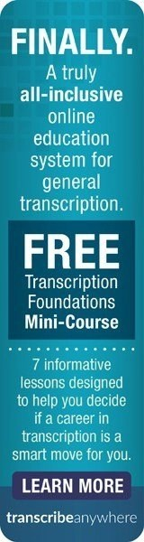 Transcribe Anywhere free General Transcription mini-course
