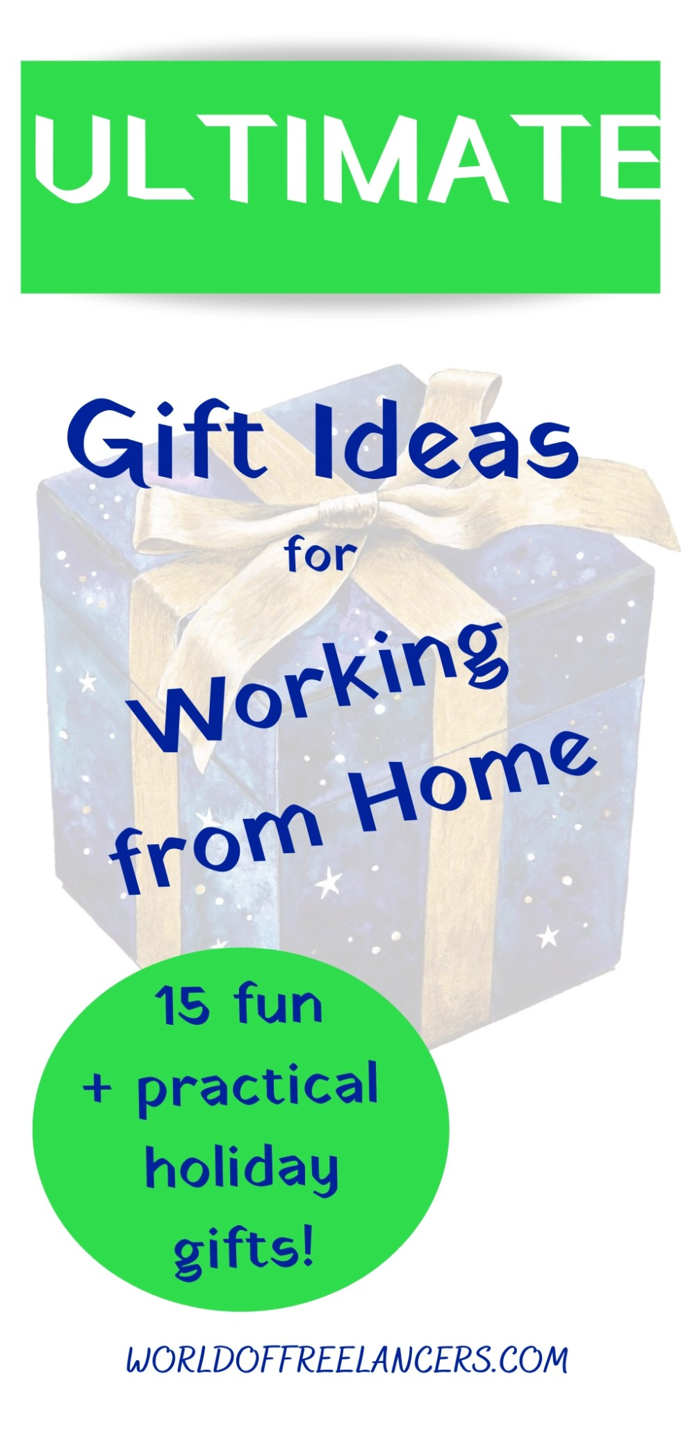 Ultimate gift ideas for working from home Pinterest image
