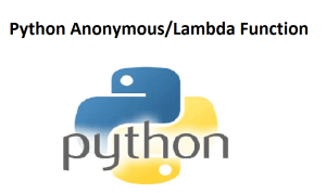 Python Anonymous/Lambda Function