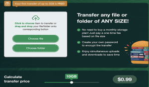 Transfer Large Files and Folders With FileWhopper