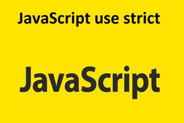 "JavaScript ""use strict"""