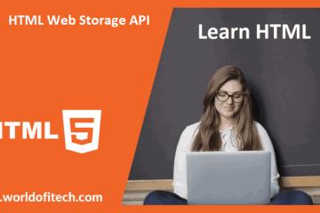 HTML Web Storage API