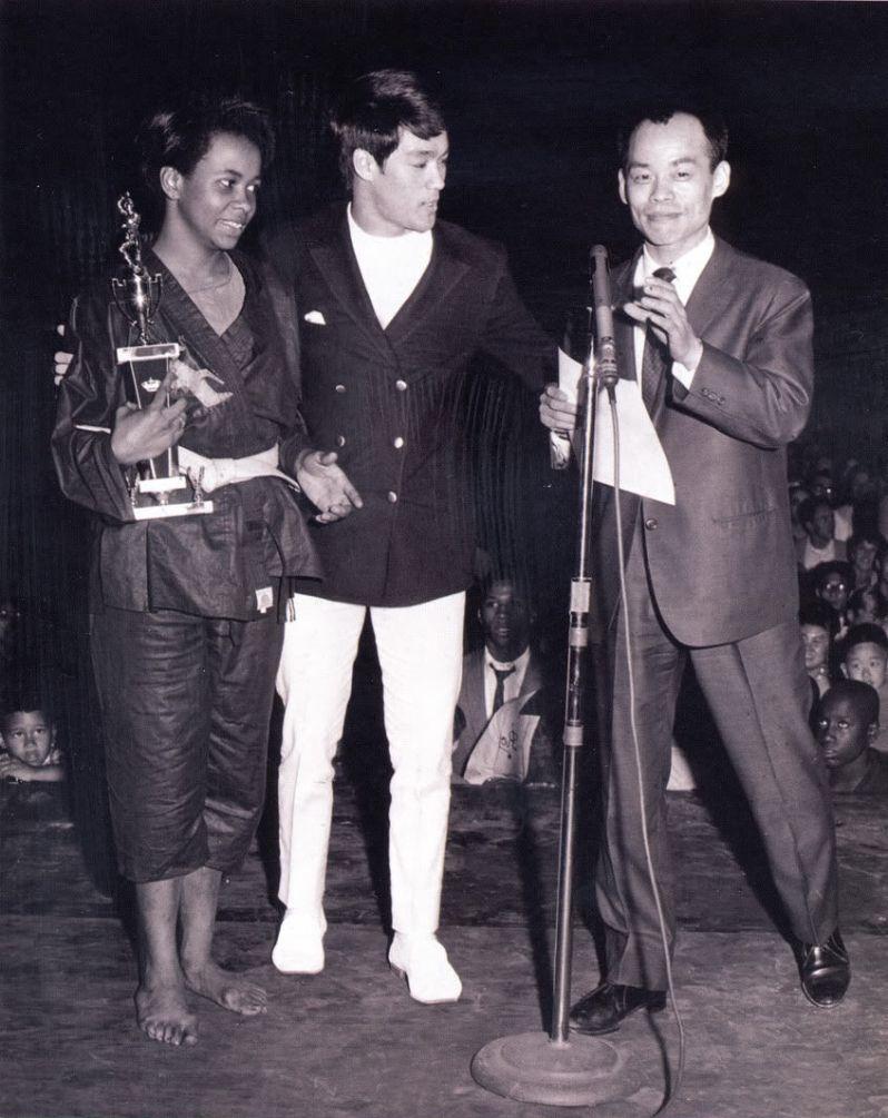 Jhoon Rhee & Bruce Lee at a tournament
