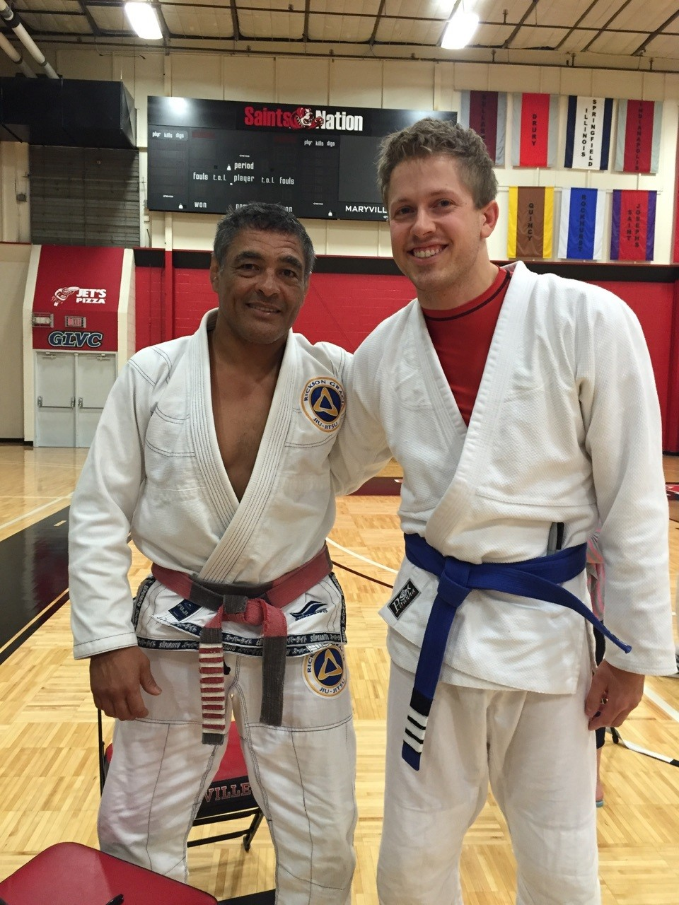 BJJ Ian Connel with Rickson Gracie