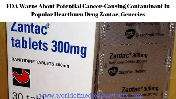 Ranitidine with components causing cancer