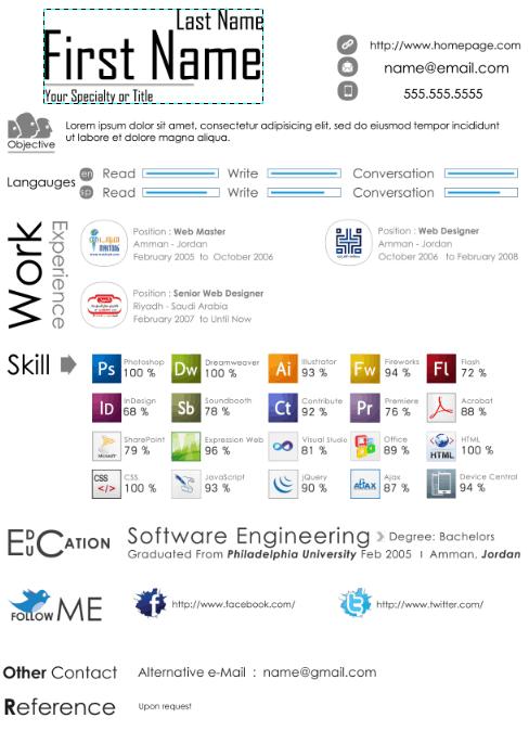 web-design-resume-template