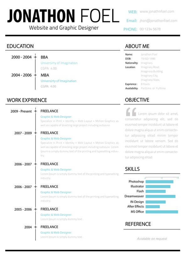 minimalistic-multipage-resume-page1