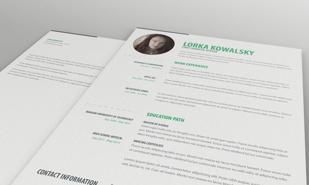 single-page-resume-template-and-cover-letter