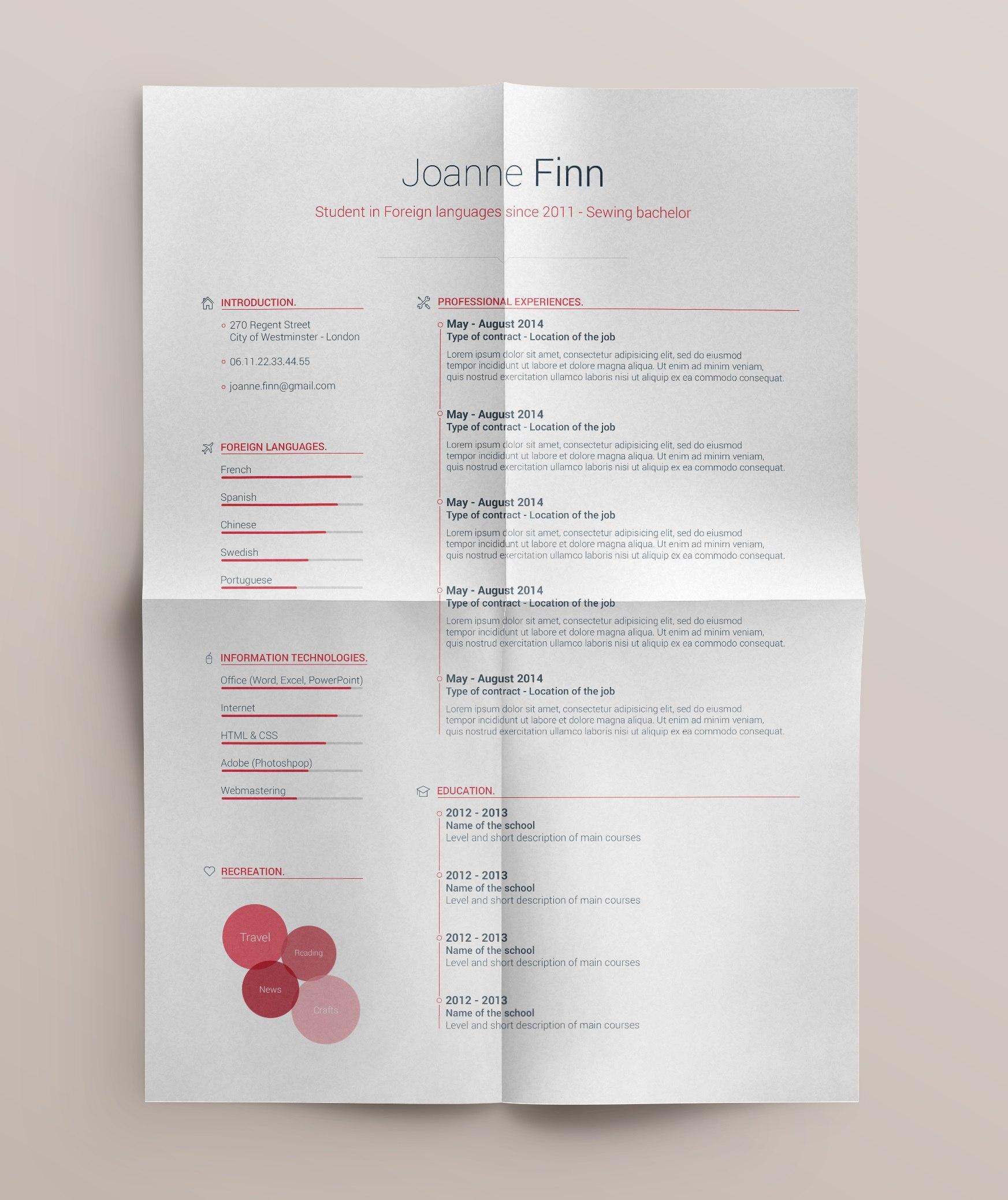 simple-and-clean-curriculum-vitae-template-design