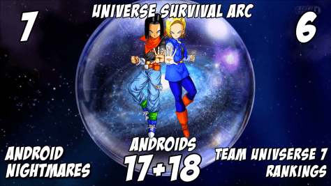 Team Universe 7 Rankings - Androids 17 + 18 [Rank 7 and 6] - Universe Survival Arc