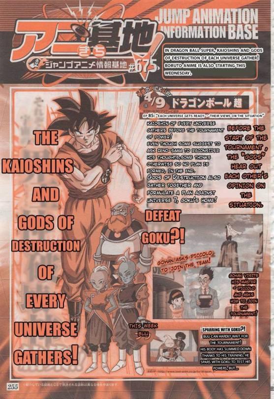 he japaneese magazine that posts dragon ball super spoilers - dragon ball super episode 85 spoilers - new majin buu!