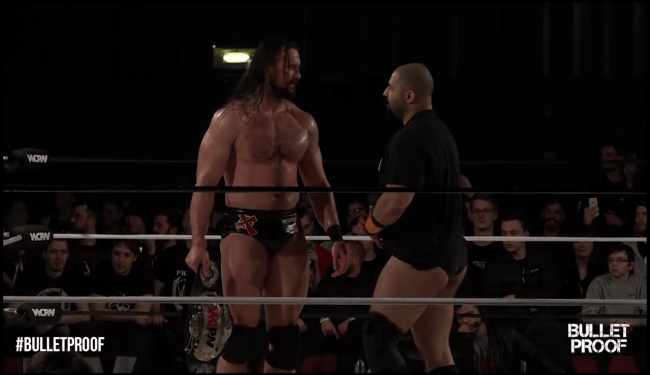 wcpw bulletproof - drew and rampage face off