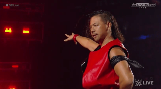 shinsuke nakamura debuts on wwe smackdown on the smackdown after wrestlemania with a live violin enterance wwe 2017 in ring