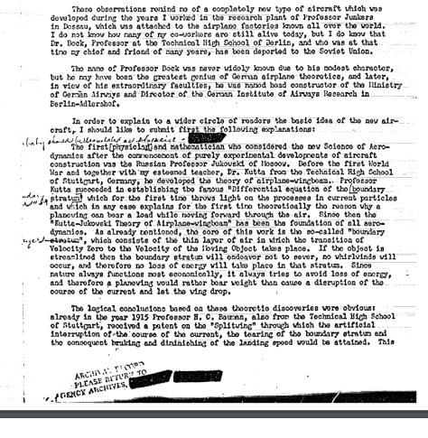 GERMAN SCIENTIST'S ARTICLE ON 'FLYING DISCS' (c) - Hidden CIA UFO files