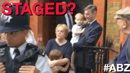 was the attack on jacob rees-moggs kids staged??