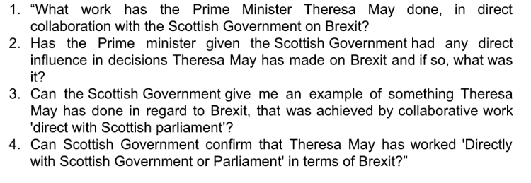 abz media brexit theresa may relationship foi FoI/19/00052