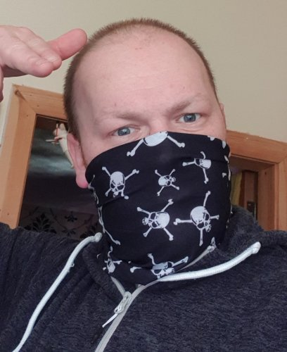 I wear tube masks these day - They are stylish and better than nothing