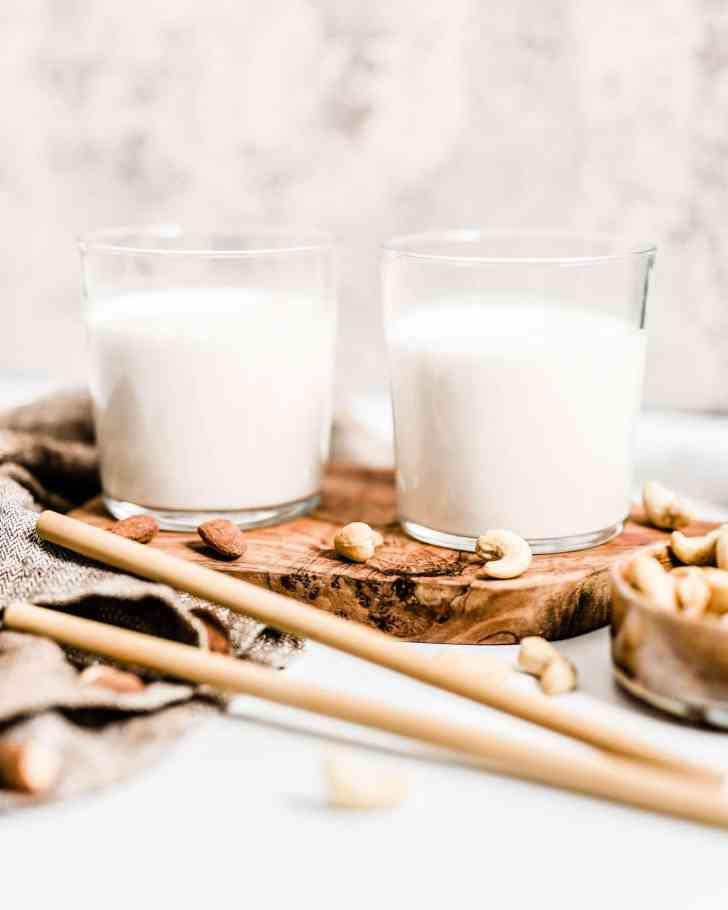 Almond Milk and Cashew Milk