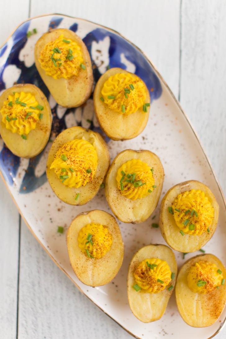 Deviled Potatoes Recipe | Super Delicious & Easy! | WorldofVegan.com