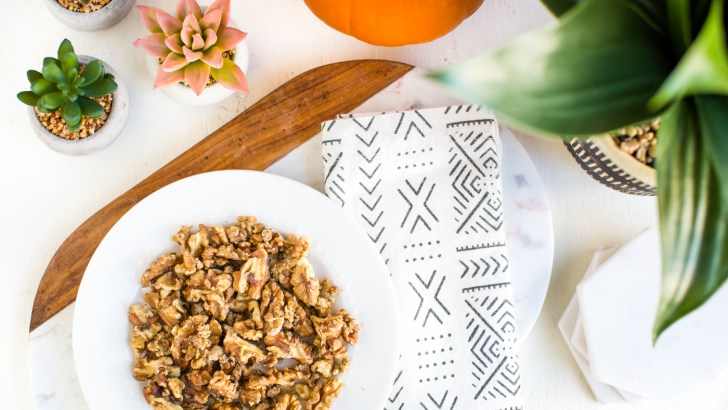 Candied Walnuts to Spruce Up Salad, Oatmeal, and Beyond!