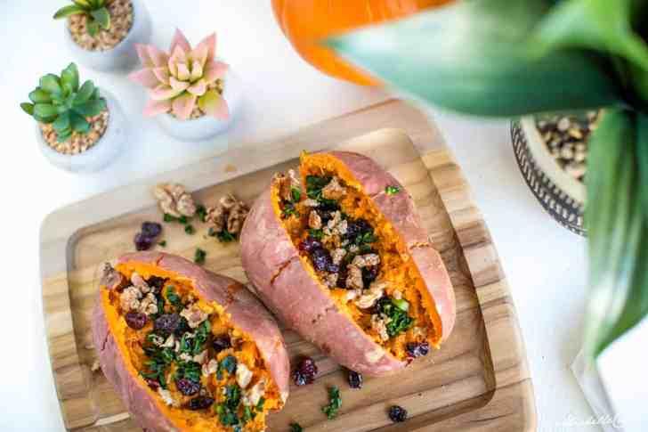 Stuffed Sweet Potatoes—Vegan Fall Recipe