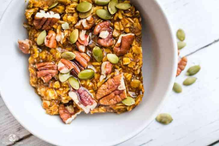 Baked Pumpkin Oatmeal | Easy Vegan Breakfast | World of Vegan