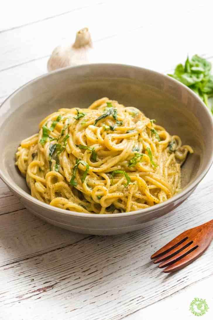 One Pot Pasta | World of Vegan | WorldofVegan.com #vegan #vegetarian #pasta #dinner #recipe #food