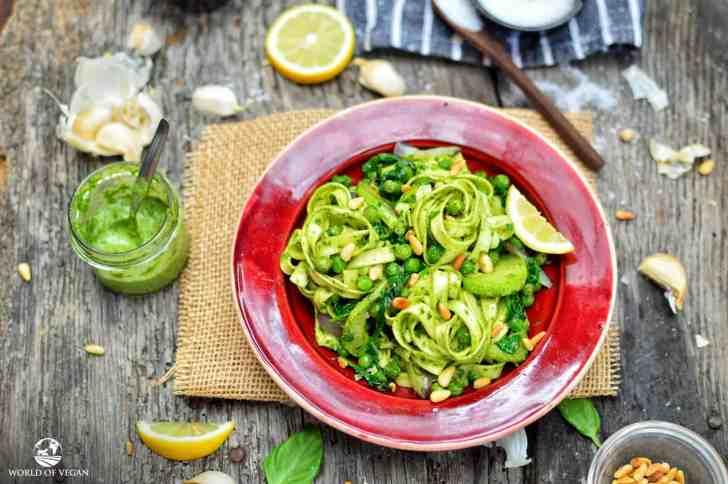 Classic Pesto Recipe | WorldofVegan.com | #pesto #pasta #vegan #vegetarian #italian #basil #recipe