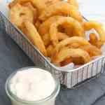 Onion Rings | Vegan Appetizer | WorldofVegan.com | #vegan #appetizer #party #summer #holidays #worldofvegan