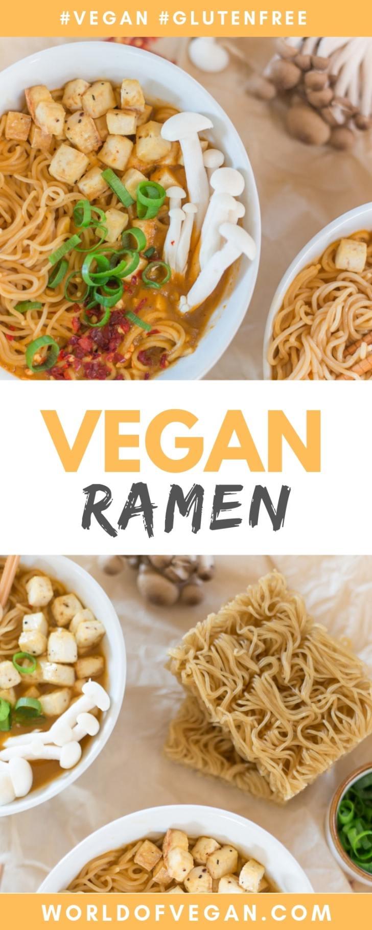 Vegan Ramen With Brown Rice Noodles | WorldofVegan.com #vegan #glutenfree #ramen #soup #recipe #dairyfree #worldofvegan