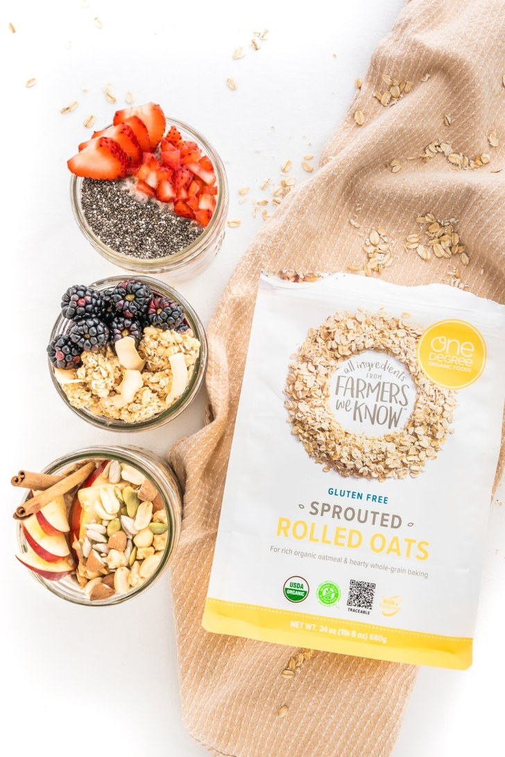 Overnight Oats—3 Ways! World of Vegan | #vegan #breakfast #vegetarian #healthy #oats